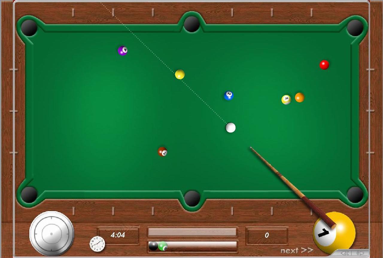 Скриншот из онлайн игры бильярд